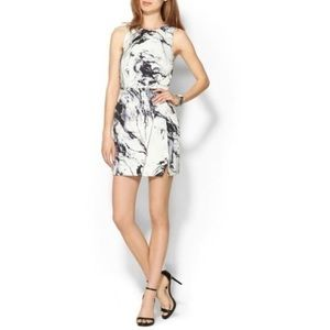 Keepsake Wrap Dress in Marble Print